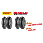 Pack de 2 Trains de Pneus Diablo Supercorsa Sc V1 (2X120/70Zr17 + 180/