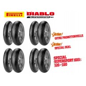 Pack de 4 Trains de Pneus Diablo Supercorsa Sc V1 (4X120/70Zr17 + 4X18