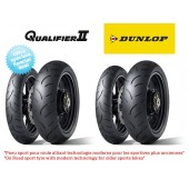 Pack de 4 Pneus Hypersport Dunlop Qualifier Ii (2X 120/70Zr17 + 180/55