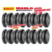 Pack de 8 Trains de Pneus Diablo Supercorsa Sc V1 (8X120/70Zr17 + 8X18