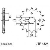 Pignon 11 Dents Jt Sprockets Chaine 520