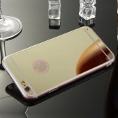 Coque iPhone 6 et 6S extrat plat Miroir Or semi rigide
