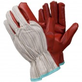 Ejendals Gants synthétiques Tegera 955, taille 10 rouge/ beige, 955-10