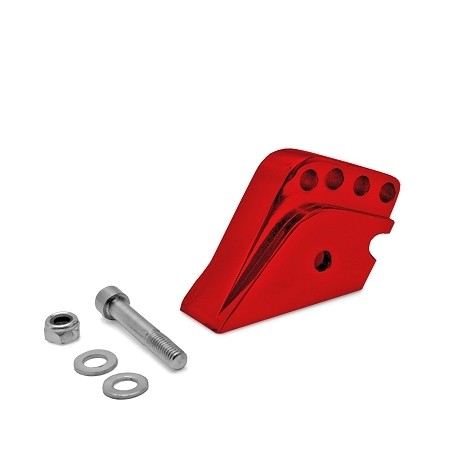 Rehausse Amortisseur adaptable Scooter Peugeot 4 POSITIONS Rouge Anodise