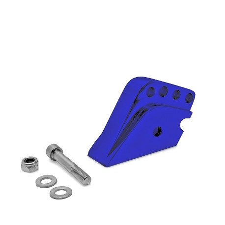 Rehausse Amortisseur adaptable Scooter Peugeot 4 POSITIONS Bleu Anodise
