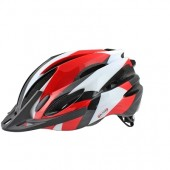 Casque Velo OKTOS Adulte Rouge/ Blanc taille L 58/62