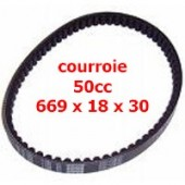 Courroie Scooter GY6 50cc 4t 669 18 30 renforcee
