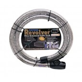 Antivol Cable Moto Revolver 1.4M X 25Mm Argent Oxford